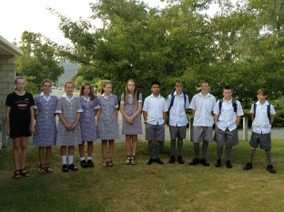 New Yr 9 students on first day of school 2013.