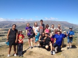 Hostel Students at the Top of Mt Iron. Waitangi Day.